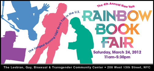 Rainbow Book Fair, March 24, NYC